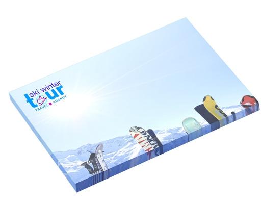 Bloc-notes publicitaire BIC® 101 x 75 mm de 25 feuilles adhésives