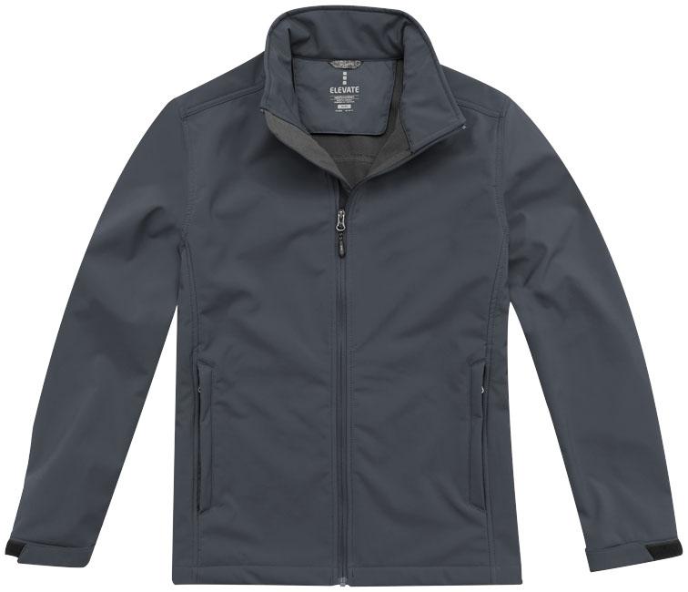Veste softshell promotionnelle homme Maxson - veste softshell publicitaire personnalisée