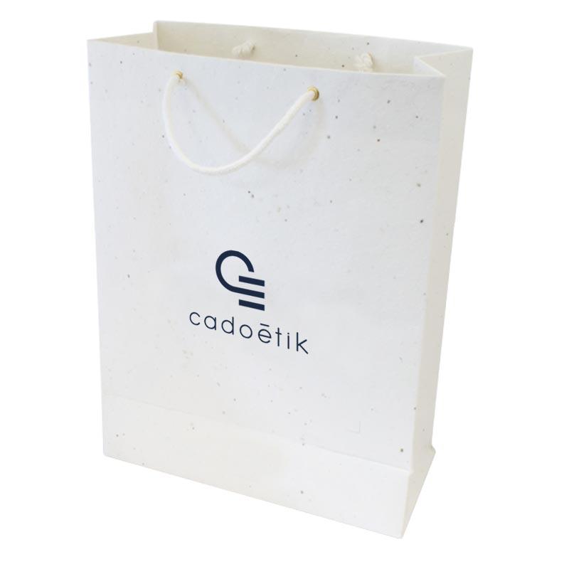 Sac en papier recyclé publicitaire - sac personnalisé tapis de semis