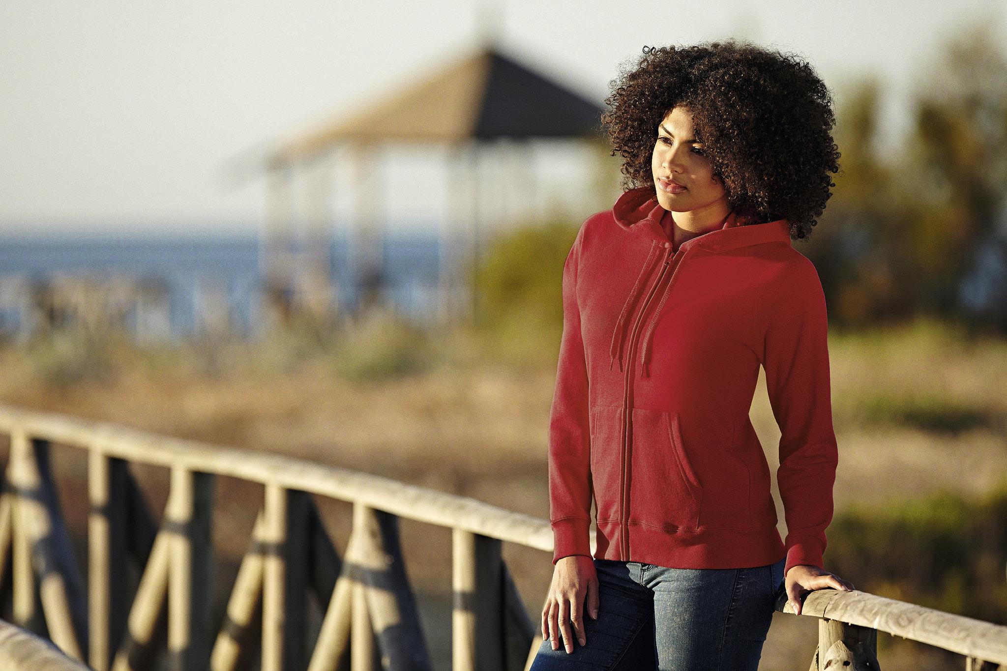 Sweatshirt à capuche publicitaire Lightweight hood bleu royal pour femme