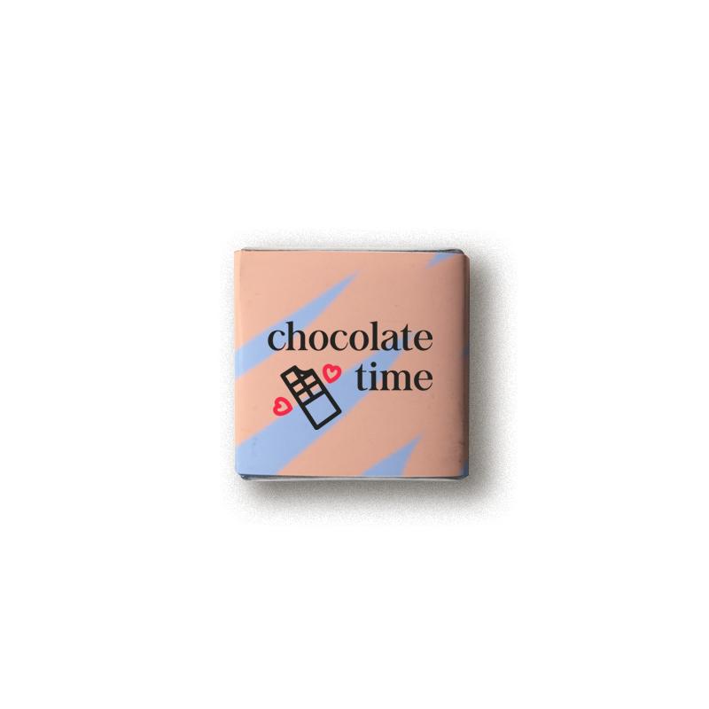 Carré de chocolat avec emballage personnalisé à offrir en cadeau client