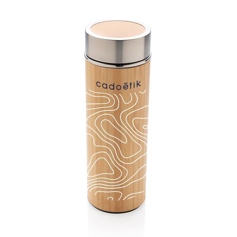 Bouteille isotherme personnalisée en bambou Ecox