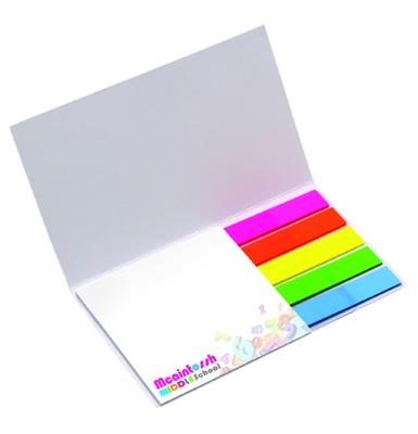 Carnet publicitaire carré - feuilles adhésives et mini sticker