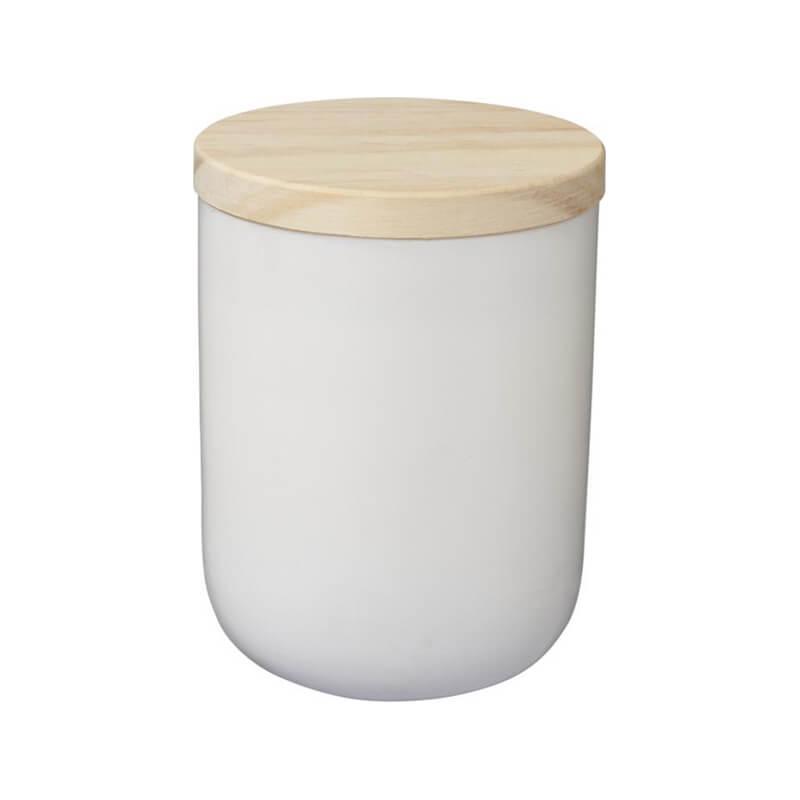 Bougie avec couvercle en bois Lani avec votre logo