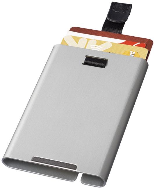 Objet publicitaire sécurité - Porte-cartes publicitaire RFID Pilot - argent