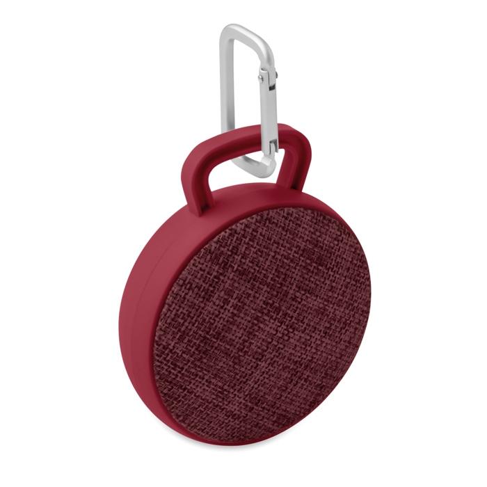 Haut-parleur Bluetooth® publicitaire rond Roll - Enceinte nomade - rose