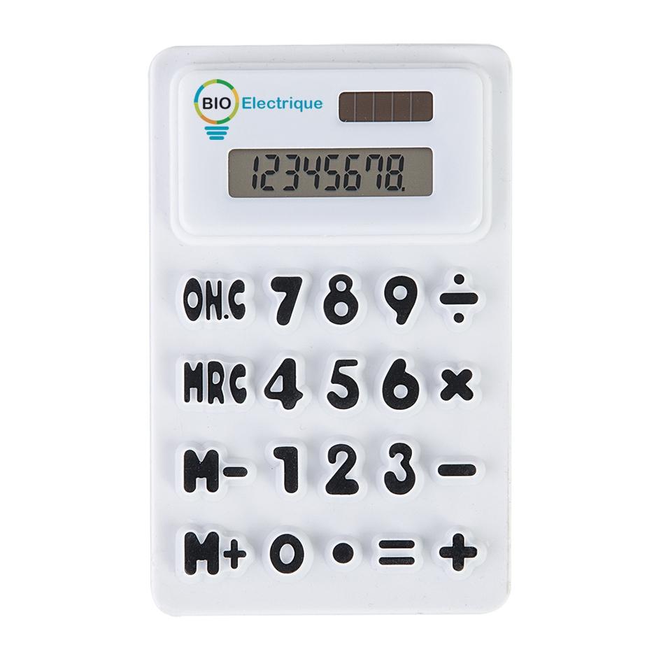 Calculatrice publicitaire écologique Springy - objet publicitaire