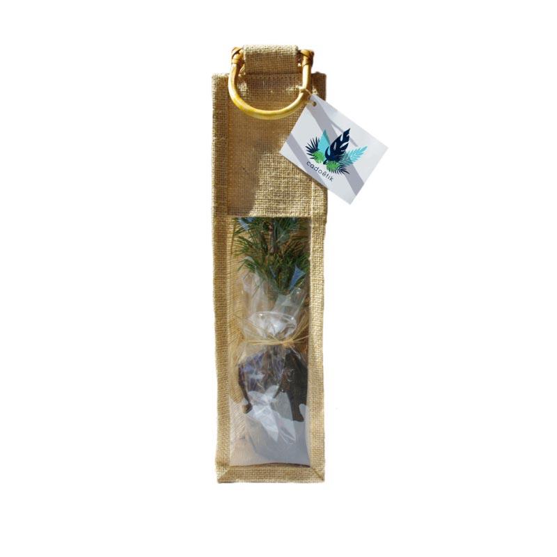 Plant arbre en sac tissu déco  - Feuillus