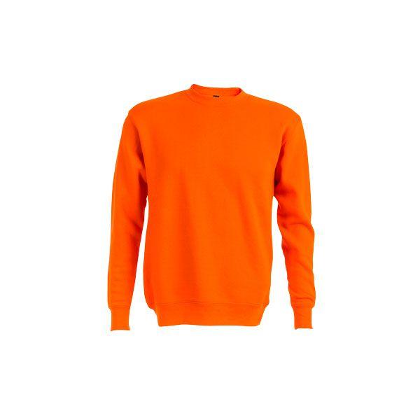 Sweat-shirt publicitaire unisexe col rond Delta - gris chiné