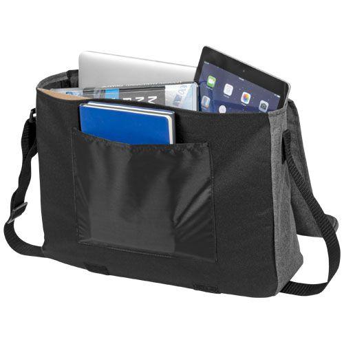 Besace pour ordinateur publicitaire Heathered - sacoche ordinateur personnalisable