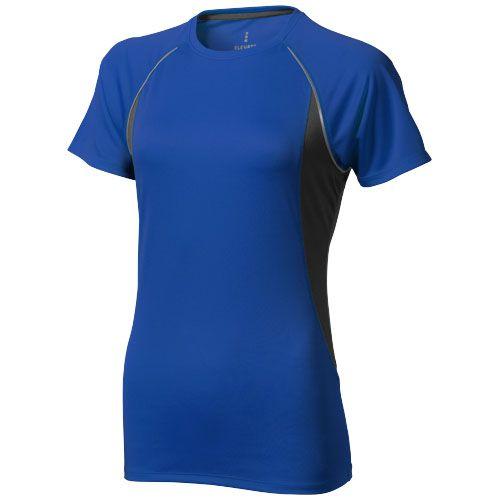 T-shirt bleu et noir manches courtes