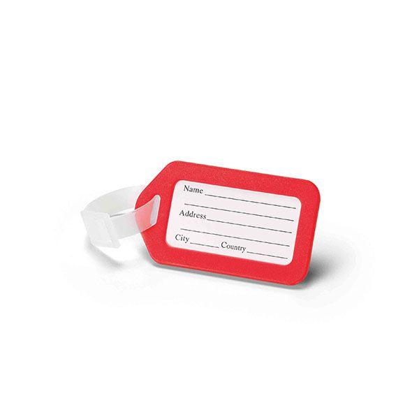 Étiquette pour bagage publicitaire Tag - goodies - cadeau d'entreprise spécial voyage