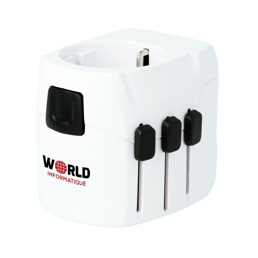 Adaptateur voyage publicitaire et chargeur USB PRO Light SKROSS®