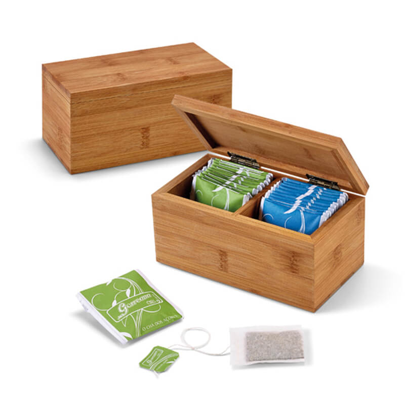 Boîte en bambou à thé Gorreana - Goodies écologique