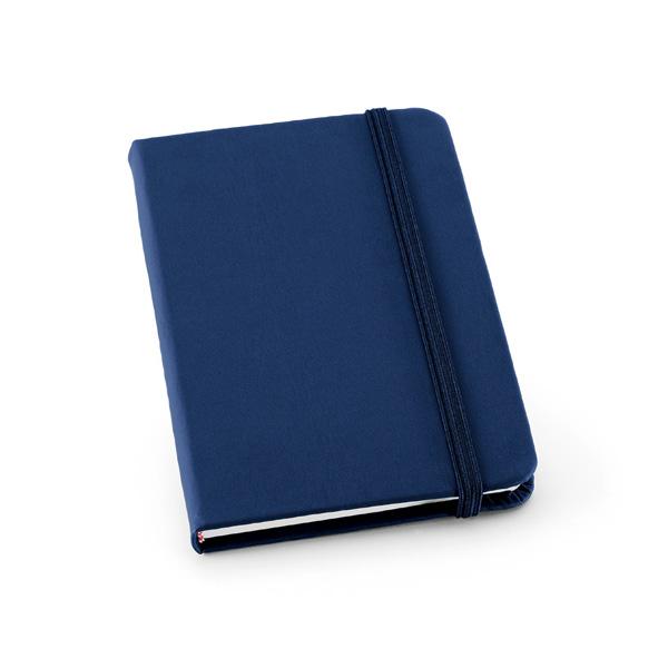 Carnet publicitaire Crop bleu - carnet personnalisable
