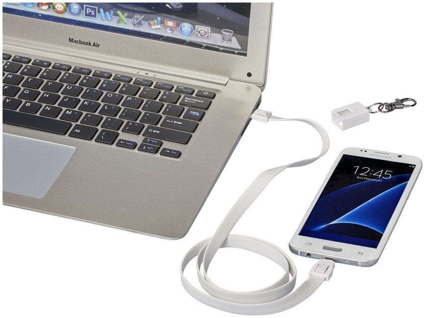 Câble de chargement personnalisé 2 en 1 avec clip Collar - accessoire high-tech personnalisé