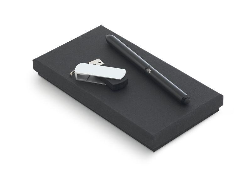 Cadeau d 'entreprise - Coffret stylo à bille publicitaire et clé USB Penco