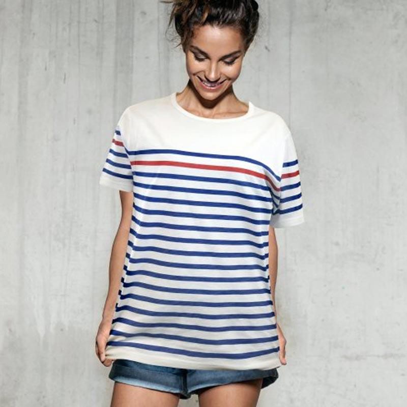 t-shirt personnalisable marinière timo