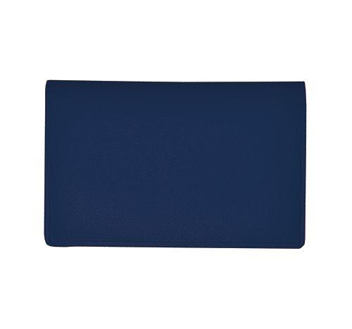 Etui cartes de crédit personnalisé Bily - Porte-cartes publicitaire bleu marine