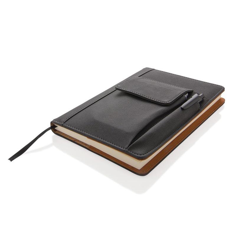 Carnet personnalisable avec pochette pour téléphone karmin