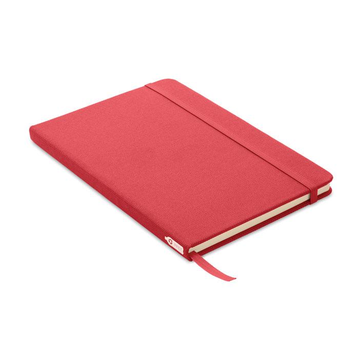 Carnet publicitaire A5 en rPET Note rouge