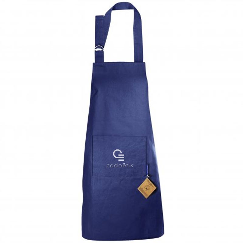 Tablier publicitaire en coton bio Master Cook 180 g - Coloris bleu