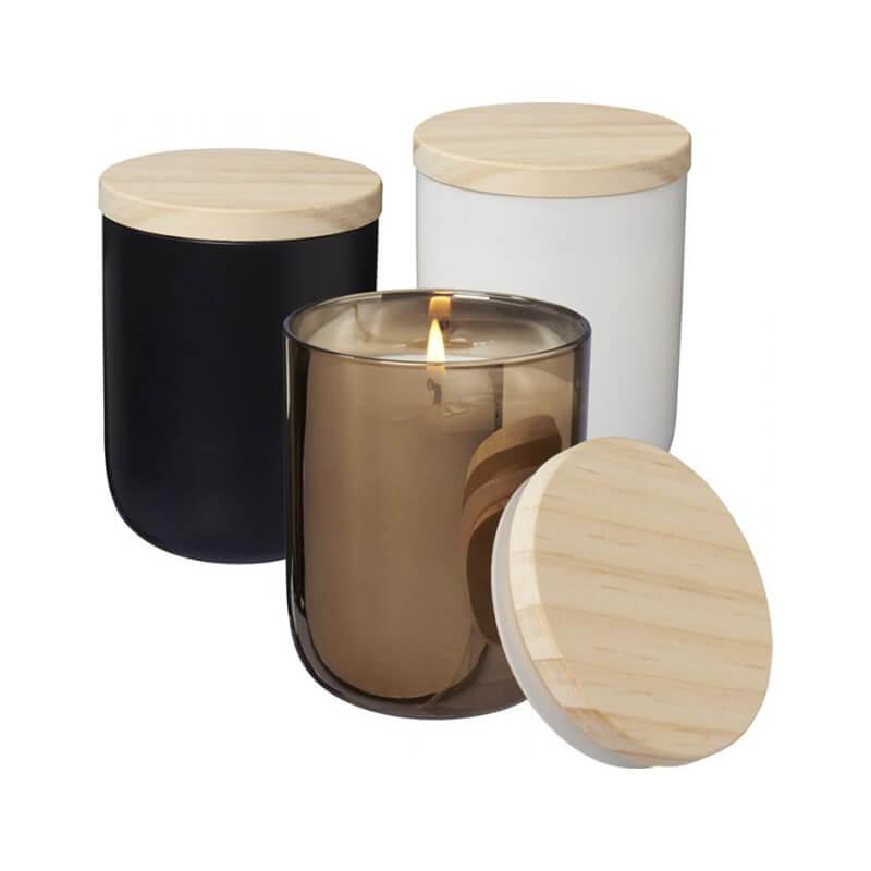 Bougies personnalisées avec couvercle en bois Lani