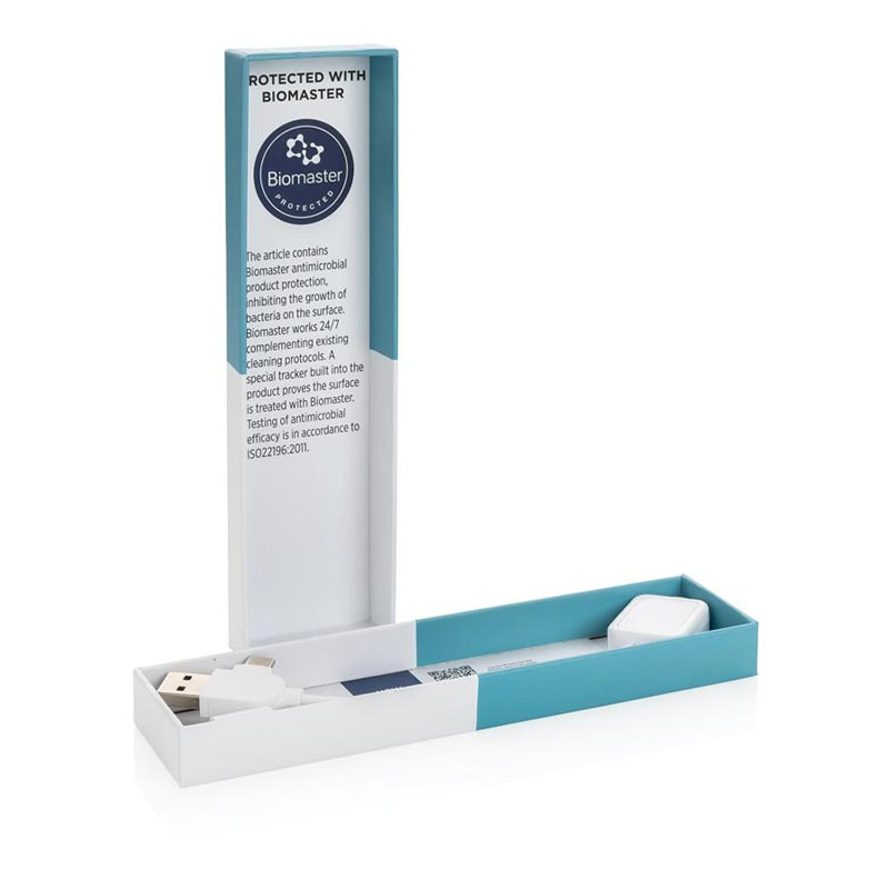cable publicitaire personnalisé Biomaster - goodies high-tech