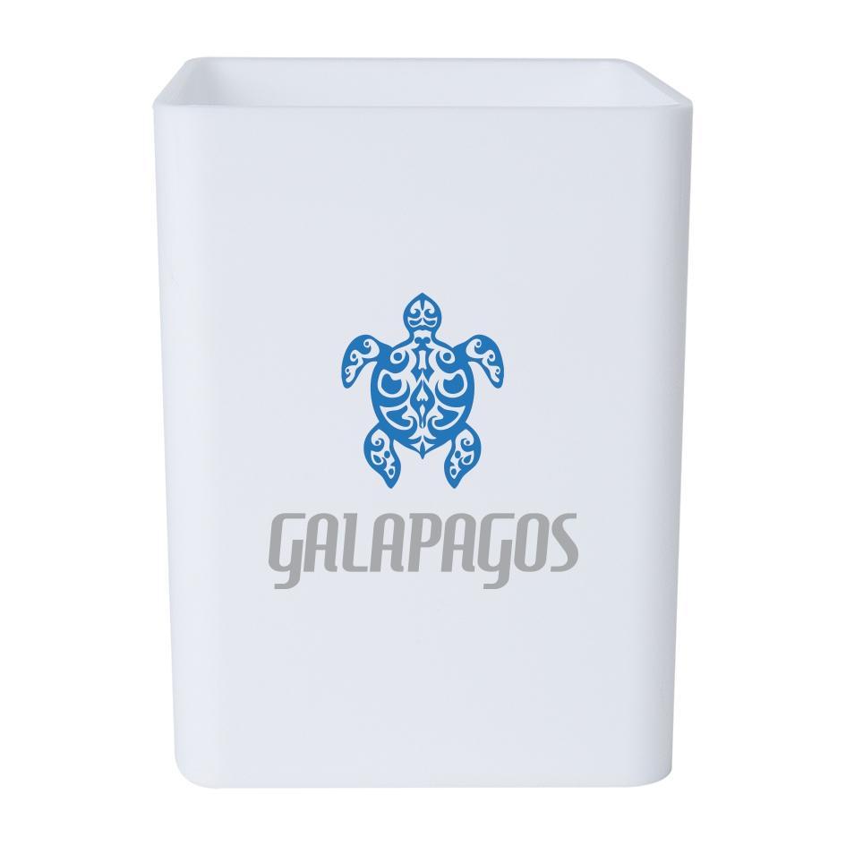 Pot à crayons personnalisable Galapagos - pot à crayons publicitaire
