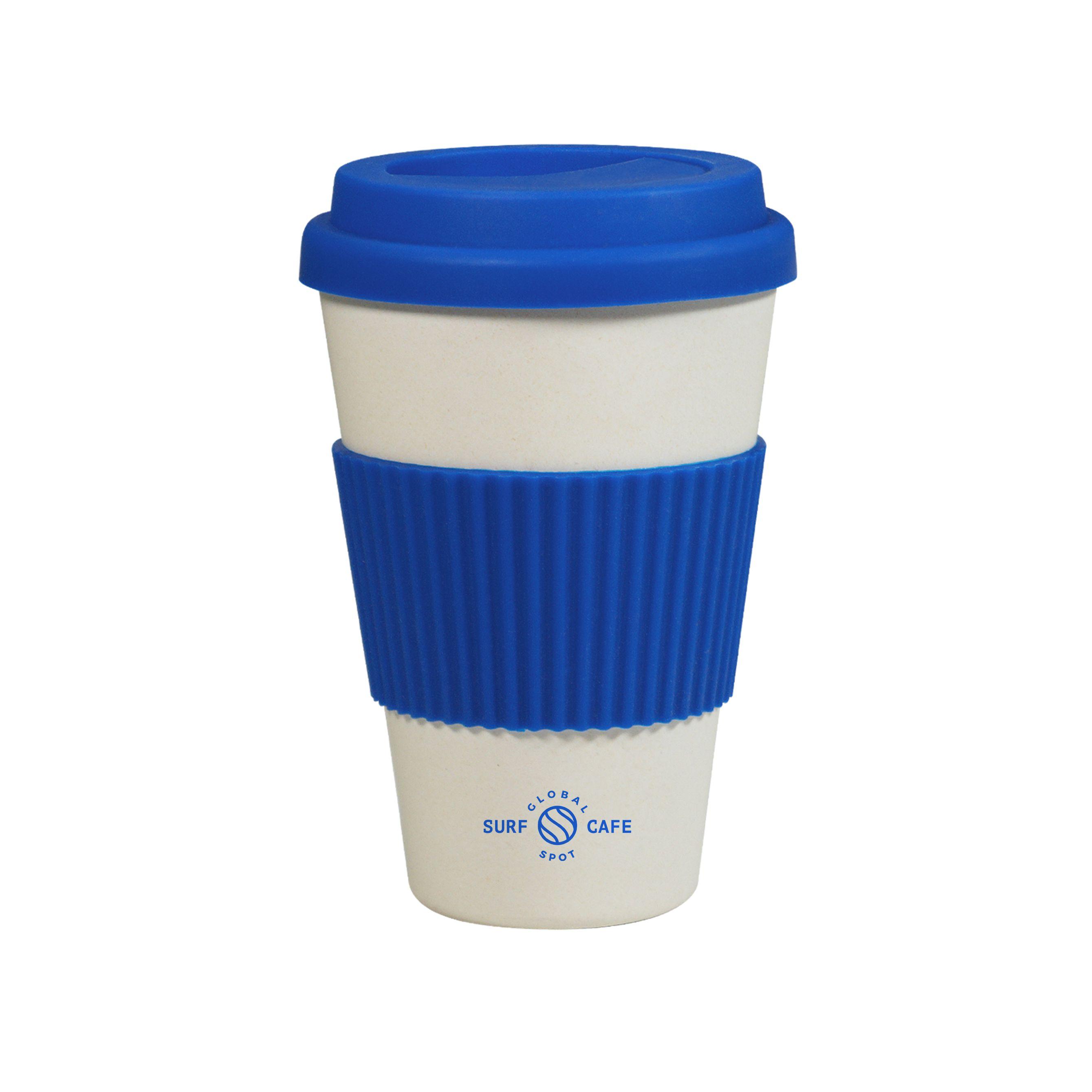 Mug écologique personnalisé Panda bleu - mug publicitaire écologique