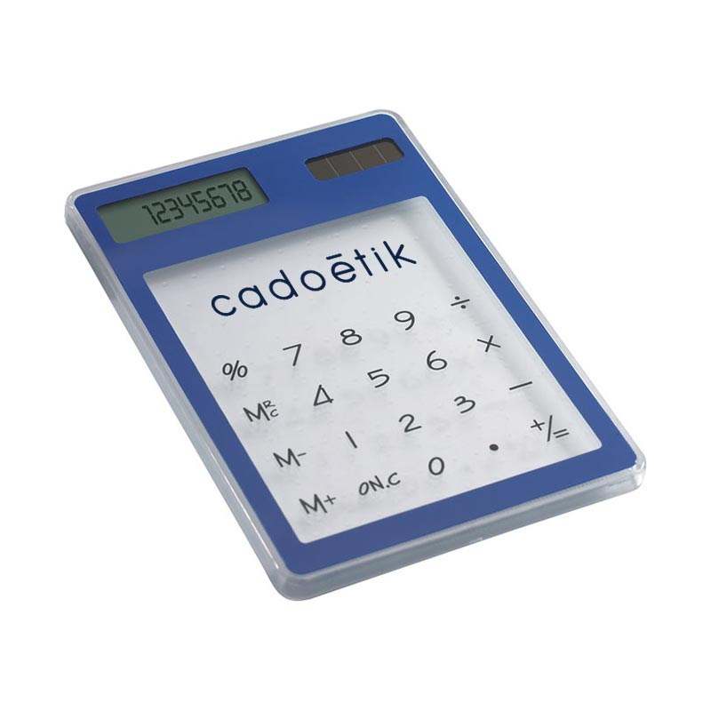 Calculatrice solaire transparente