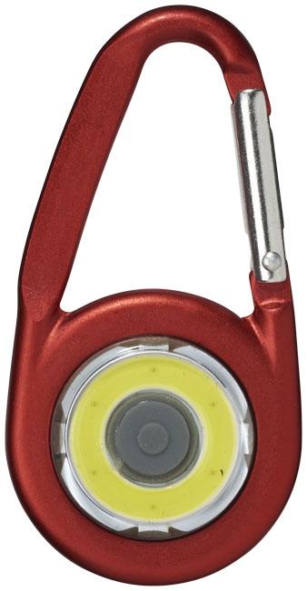 Mousqueton avec lampe publicitaire COB Eye - goodies personnalisé