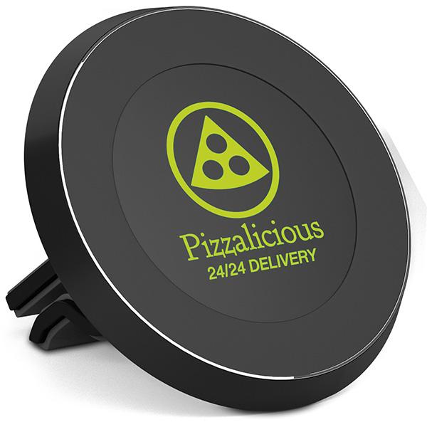 Support personnalisé pour voiture à induction Magnetic - accessoire publicitaire pour téléphone