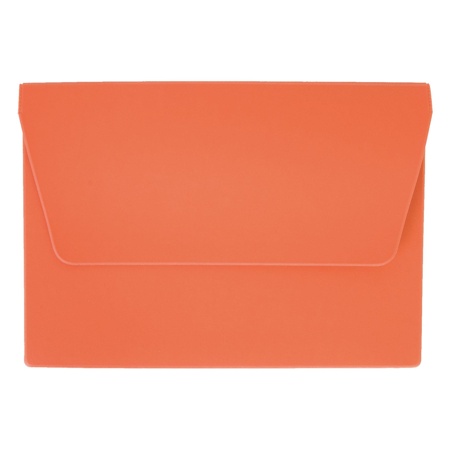 Cadeau publicitaire - Pochette de voyage publicitaire 1 poche A5 - orange