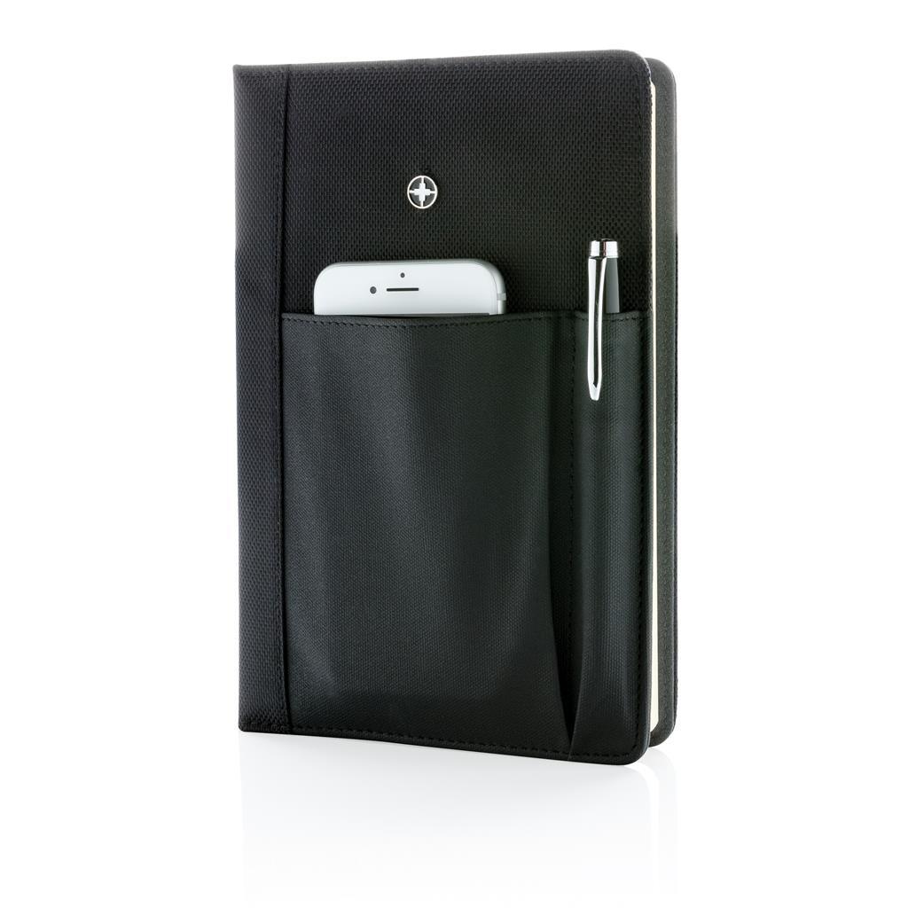 Set carnet  A5 personnalisé et stylo Swiss Peak - Cadeau publicitaire