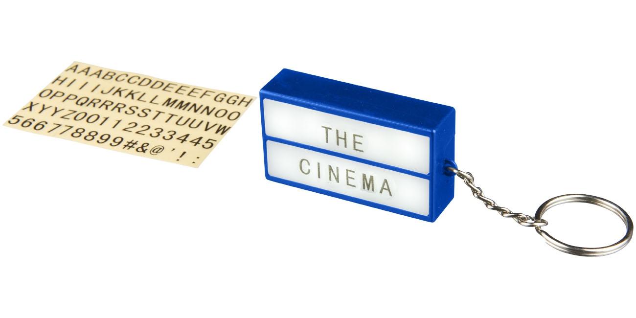 Porte-clés publicitaire lampe Cinéma noir