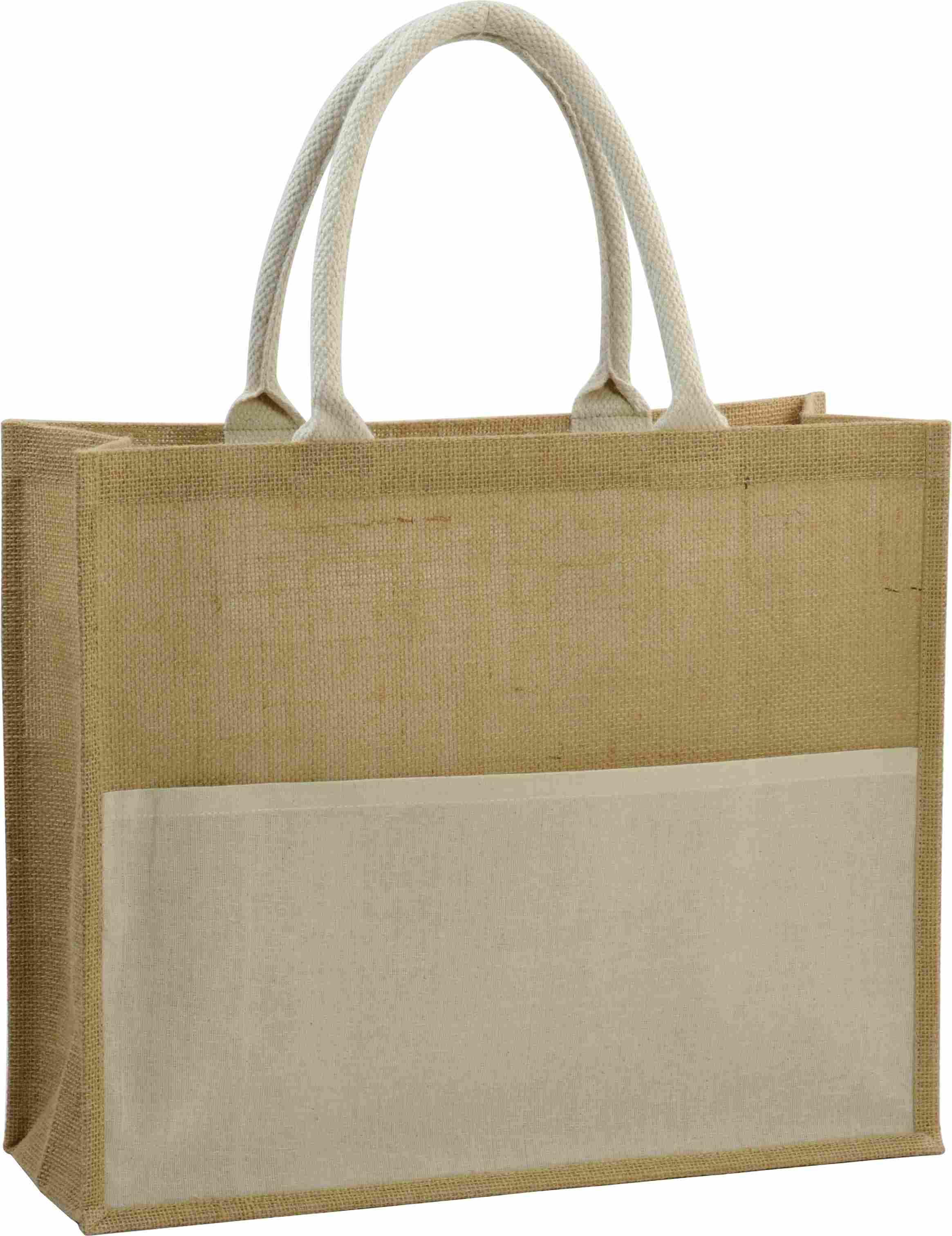 sac shopping publicitaire écologique en jute Lady