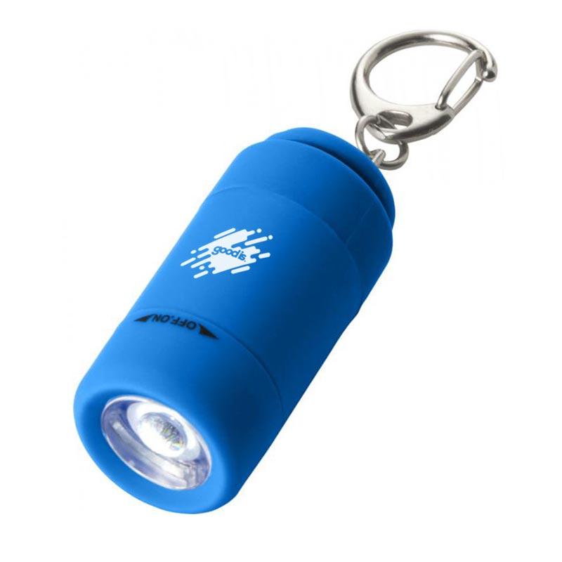 Mini lampe personnalisée avec chargeur USB - bleu