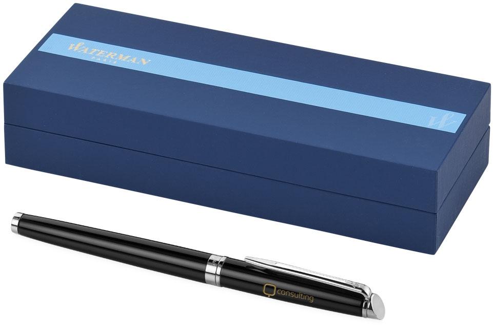 Stylo roller publicitaire Hémisphère Waterman® noir - coffret cadeau