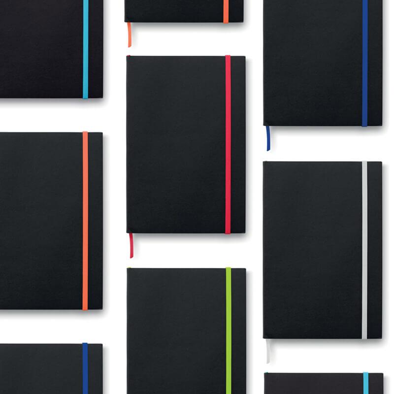 Carnet A5 publicitaire en papier Black Note
