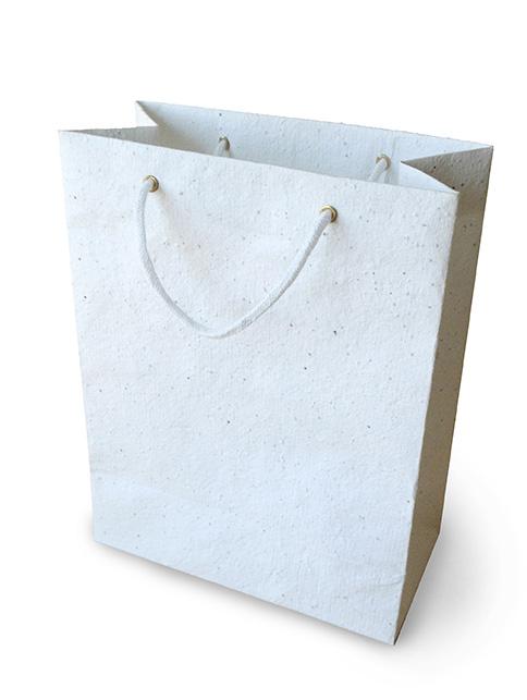 Sac papier personnalisé écologique - Sac publicitaire biodégradable tapis de semis