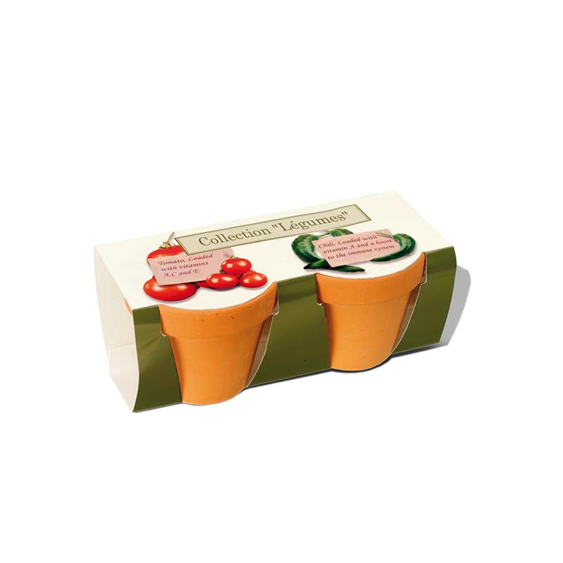 Cadeau d'entreprise écologique - Kit de plantation publicitaire Duo
