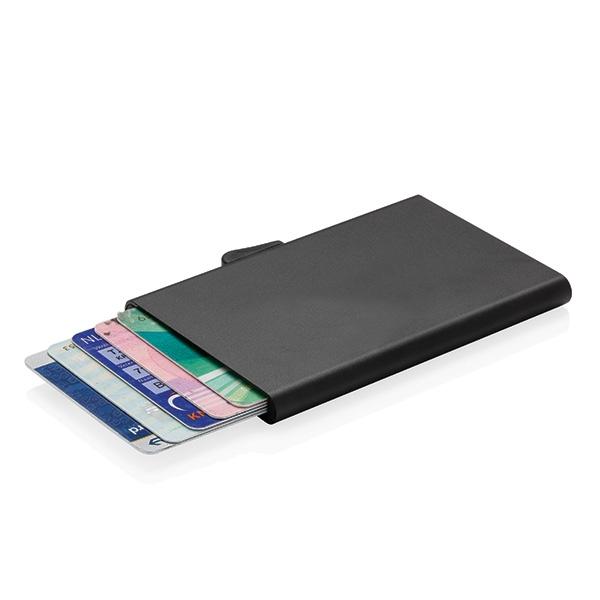 Porte-cartes publicitaire en aluminium anti-RFID C-Secure Trust - Goodies