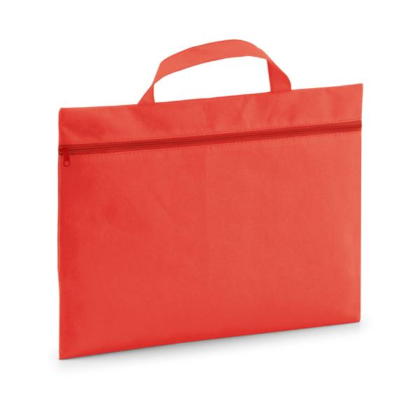 Porte-documents personnalisable écologique Slimy rouge - cadeau personnalisable