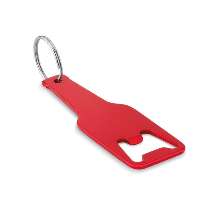 Goodies - Porte-clés decapsuleur personnalisé en alu Botelia - rouge