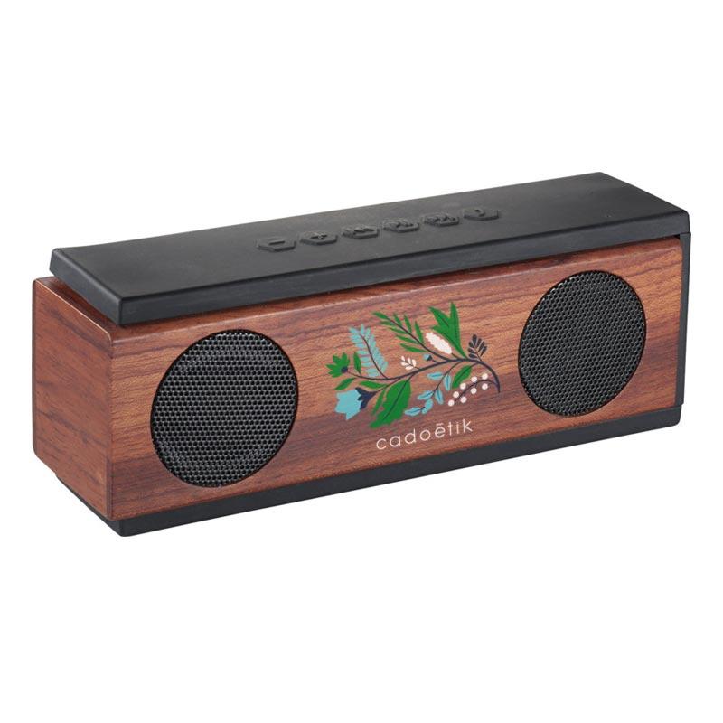 Enceinte Bluetooth en bois Woody