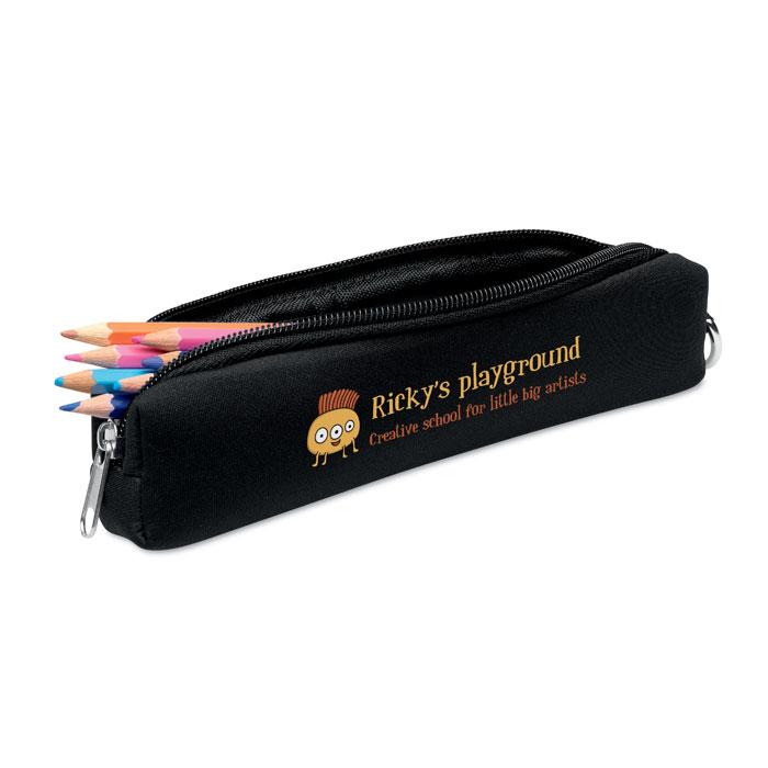 objet publicitaire - Trousse à crayons personnalisable en mousse Iris