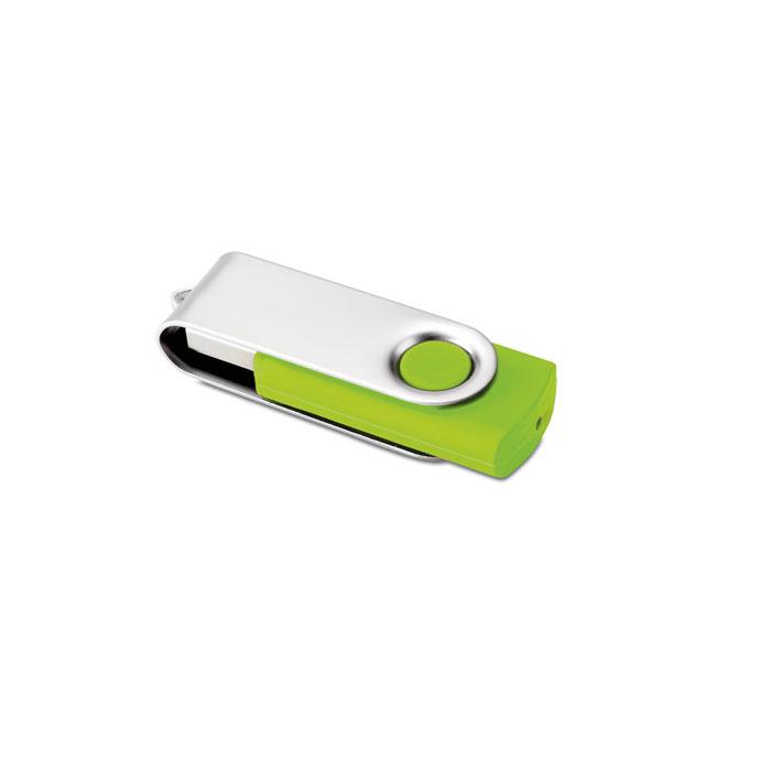 Clé USB publicitaire flash 4GoTechmate - carnet pesonnalisé orange