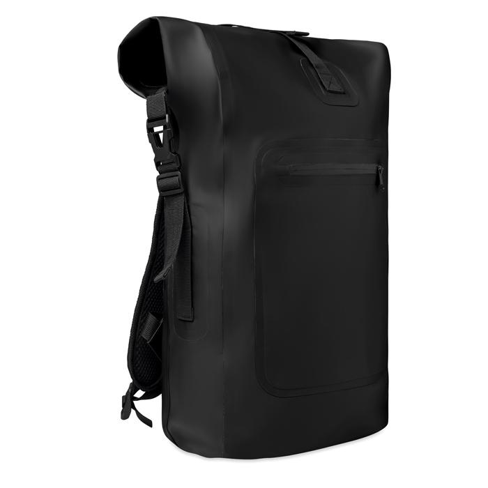 Sac à dos publicitaire noir imperméable en bâche Scuba Bag - objet pub