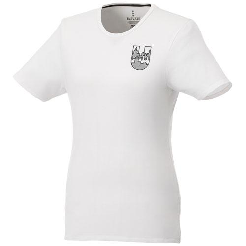 T-shirt publicitaire bio manches courtes femme Balfour - rose